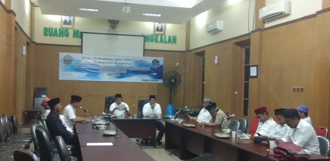 Bupati Bangkalan, R. Abdul Latif Amin Imron, saat safari Ramadhan bersama Insan Jurnalis Bangkalan